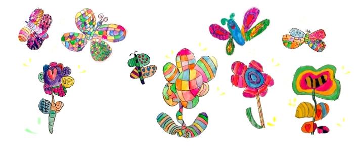 S pisanimi metulji v pomladnem času